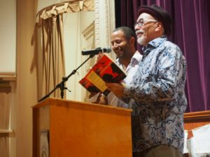Juan Felipe Herrera and JJ Wilson read together at Light Hall, WNMU